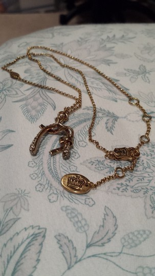 "Juicy Couture Juicy Couture - Pave Wishbone Necklace, ""I Wish For Couture"" RARE!"