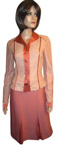 St. John Evening Skirt and Jacket Terracotta Embellished