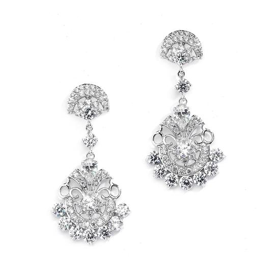 Preload https://item4.tradesy.com/images/silver-vintage-glam-cz-earrings-3858433-0-0.jpg?width=440&height=440