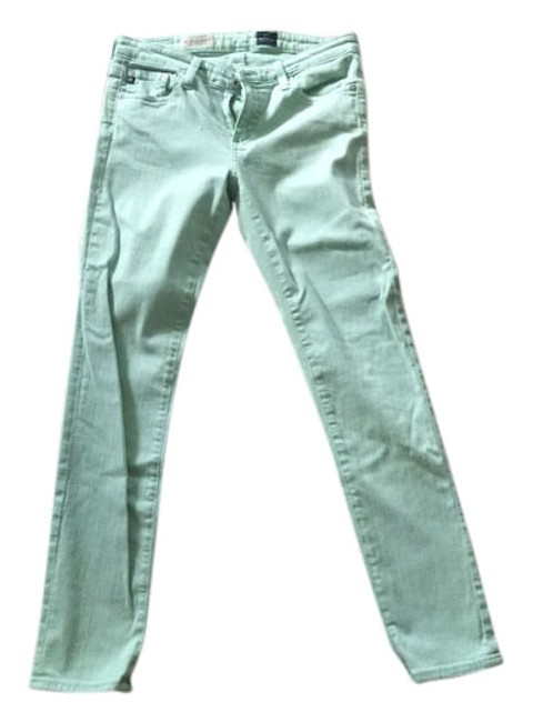 Item - Green Light Wash The Stevie Ankle Skinny Jeans Size 27 (4, S)