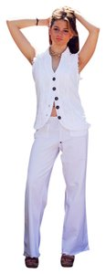 Lirome Bohemian Nautical Straight Pants White