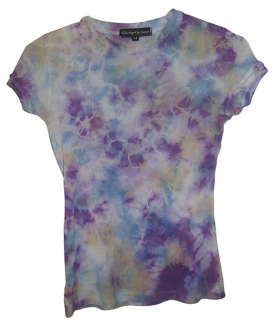 Churchgirl by Ta-ning T Shirt Purple and Blue Tiedye