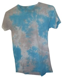 Urban Renewal Sky T Shirt Blue and White Tie Dye