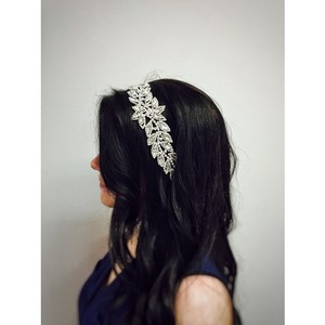 Crystal Bridal Head Wrap On Ribbon