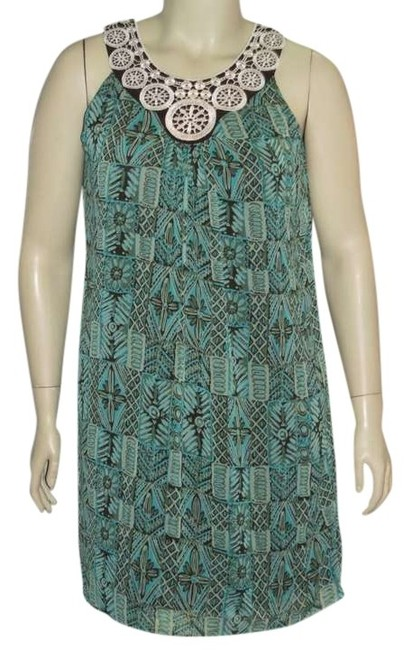 Item - Green New Misses Above Knee Work/Office Dress Size 12 (L)