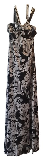 black/ white floral print Maxi Dress by Banana Republic