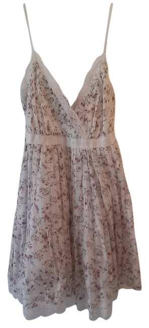 Other short dress White w/ floral print Lace Trim on Tradesy