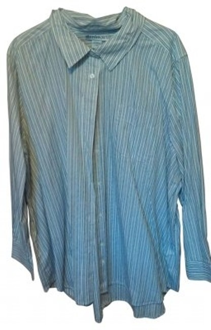 Preload https://item4.tradesy.com/images/denim-247-blue-pinstripe-button-down-top-size-24-plus-2x-38613-0-0.jpg?width=400&height=650