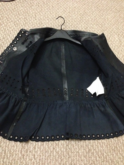 RED Valentino Navy Leather Jacket