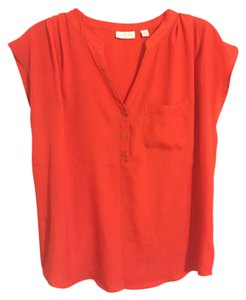 New York & Company Top Tangerine