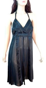 AGB Clothing Illusion Silk Halter Dress