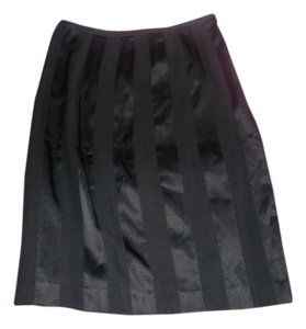 Catherine Malandrino Silk Wool Pencil Skirt Black