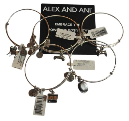 Alex and Ani Alex and Ani COMPLETE Monopoly Set of 5 Bracelets including the Dog; Cat; House; Car and the VERY RARE Top Hat;
