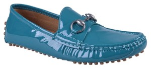 Gucci Loafers Dior Chanel Louboutin Turquoise Flats