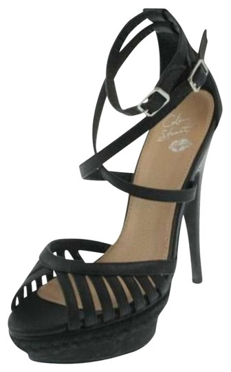 Victoria's Secret Pumps Heels Colin Stuart 8.5 Black Platforms