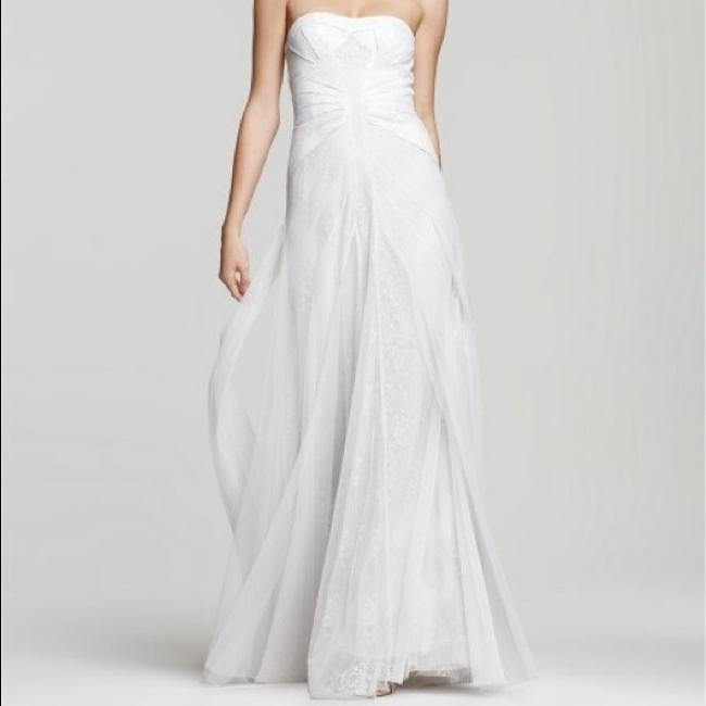 Item - Off White / Ivory Soft Tulle and Lace Moriza Strapless Gown Feminine Wedding Dress Size OS