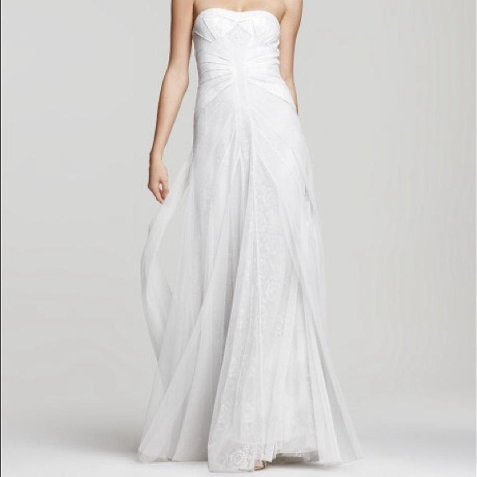 ab150a4c89 BCBGMAXAZRIA Off White   Ivory Soft Tulle and Lace Moriza Strapless Gown  Feminine Wedding Dress