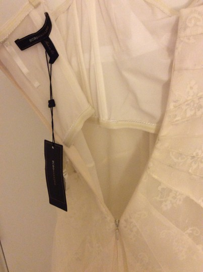 BCBGMAXAZRIA Off White / Ivory Soft Tulle and Lace Moriza Strapless Gown Feminine Wedding Dress Size OS