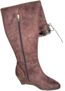 Colin Stuart Faux Fur Brown Boots