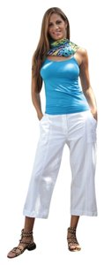 Lirome Casual Summer Resort Vacation Capris White
