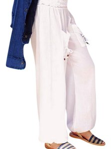 Lirome Yoga Boho Summer Baggy Pants Denim Blue