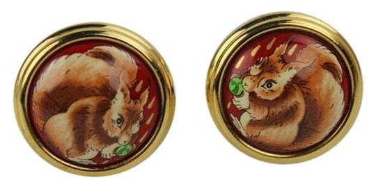 Hermès [ENTERPRISE]Squirrel Pendant Clip On Earrings HE06S