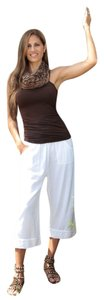 Lirome Summer Organic Cotton Capris White
