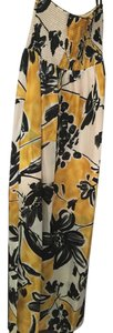 Black, yellow and white Maxi Dress by BCBGMAXAZRIA