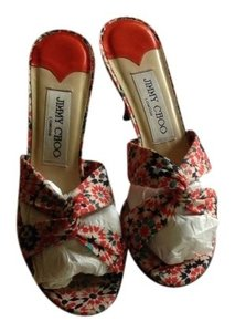 Jimmy Choo Orange Multi Sandals