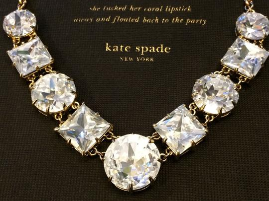 Kate Spade Kate Spade Classic Crystal Kaleidoscope Necklace NWT Rare Lobster Clasp So No Fussing w/ Grimy Ribbon Ties in the Classic Piece for Your Collection! Image 3