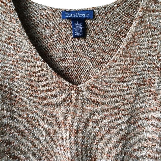 Preload https://item4.tradesy.com/images/evan-picone-brown-multi-knit-shell-sweaterpullover-size-12-l-386453-0-1.jpg?width=400&height=650