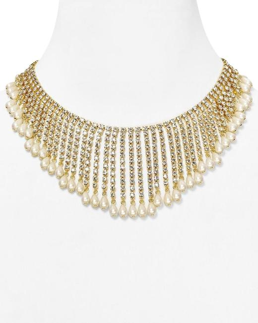Kate Spade 12k Gold Plate & Faux Pearls & Faceted Crystals One Of A Kind Seaview Spray Statement One Else Has Anything Like It Necklace Kate Spade 12k Gold Plate & Faux Pearls & Faceted Crystals One Of A Kind Seaview Spray Statement One Else Has Anything Like It Necklace Image 1