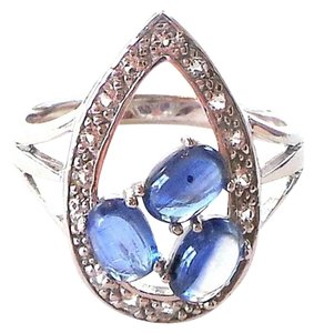 Other BLUE KYANITE-WHITE TOPAZ 925 SILVER RING Size 9
