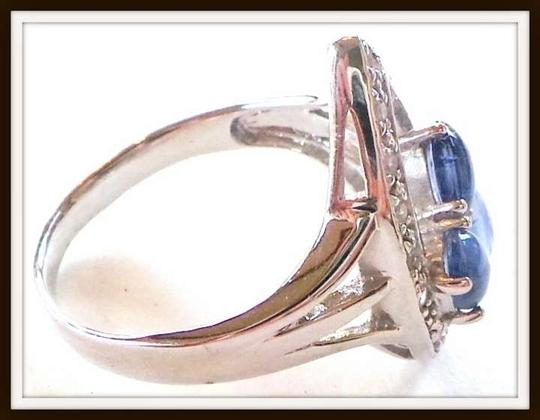 Other BLUE KYANITE-WHITE TOPAZ 925 SILVER RING 9