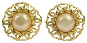 Chanel [ENTERPRISE]CC Logo Pearl Clip On Earrings CCJY20 44CCA606