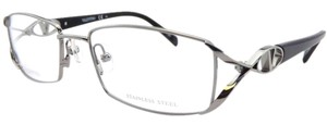 Valentino VALENTINO Eyeglasses Silver Black 085K New Frames Authentic Optical Frames