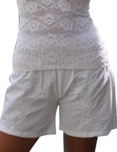 Lirome Embroidered Mini/Short Shorts White