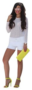 Lirome Summer Vacation Resort Organic Cottage Chic Mini/Short Shorts White