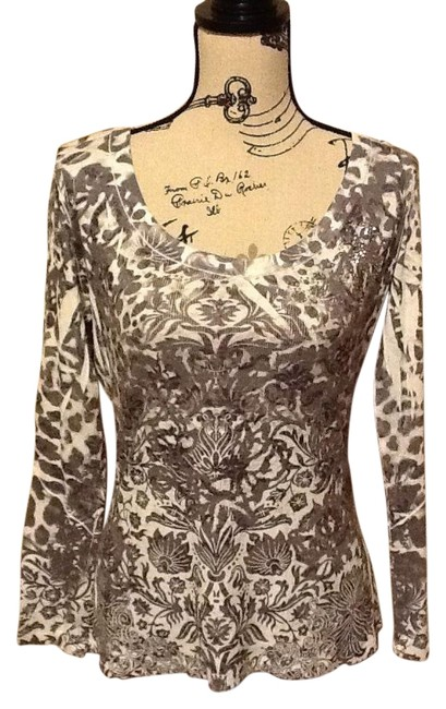 Preload https://item3.tradesy.com/images/one-world-whiteblack-floral-images-with-sparkle-blouse-size-14-l-3865342-0-2.jpg?width=400&height=650