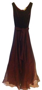 JS Collections Wine Velour Tool Dress