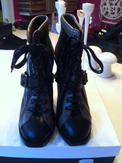 Marc by Marc Jacobs Black/ Gray Boots Image 1