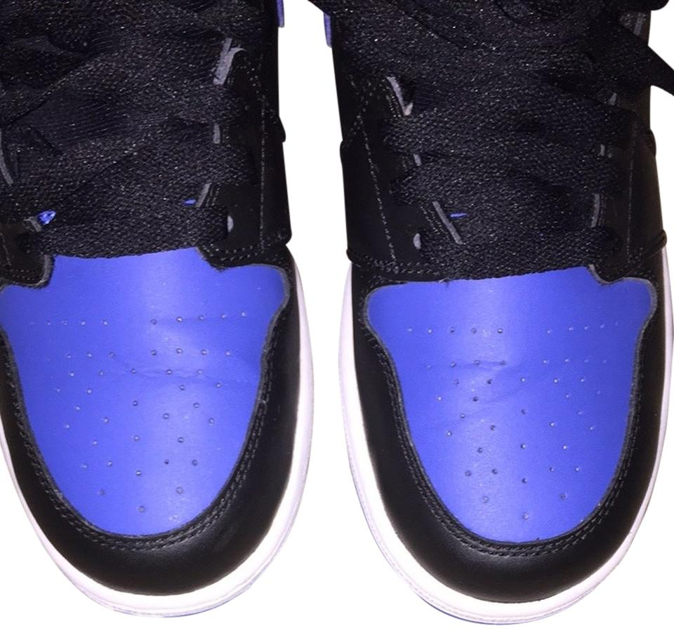 the latest aaa4a 4bbce Air Jordan Black Royal Blue White Sole Retro 1's Sneakers Size US 7 Regular  (M, B) 37% off retail