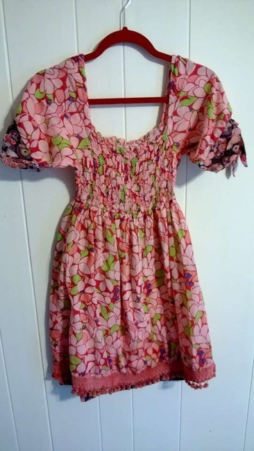 Blue Plate short dress pink, red, blue, green, brown, white, orange on Tradesy