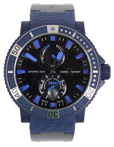 Ulysse Nardin Navy Blue Rubber Limited Edition Black Sea/ Blue Sea 263-97LE-3C Marine Diver