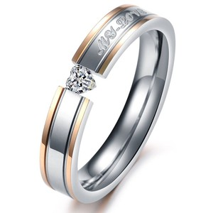 Valentine's Day Sale My Love Heart Crystal Wedding Band Free Shipping