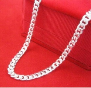 Silver Bogo Free Sterling Plated Link Chain Free Shipping Necklace