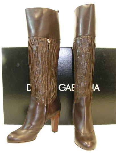 Preload https://item5.tradesy.com/images/dolce-and-gabbana-dark-brown-chocolate-gauffre-leather-tall-full-zip-bootsbooties-size-eu-405-approx-3866794-0-0.jpg?width=440&height=440