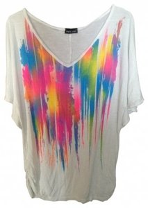 Wet Seal Top White/Neon