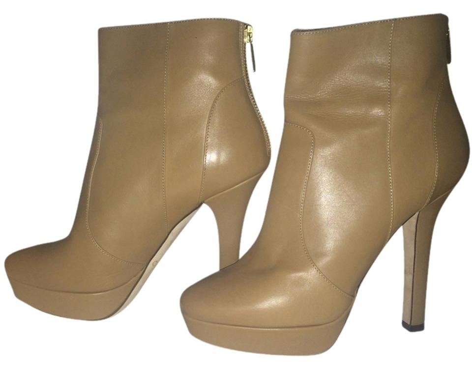 Jimmy Choo Tan Dyers 120mm Blonde Calf Calf Calf Leather Boots/Booties 98c008