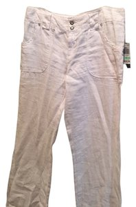 INC International Concepts Straight Pants white